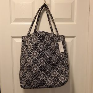 Bright Tote in Charcoal Medallion